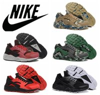camouflage shoes - NIKE AIR HUARACHE MEN running shoes top quality breathable camouflage sport shoes plus size