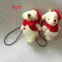 amigurumi animals - H cm Christmas Bear Stuffed Animal Cute Teddy Bear miniature bear Amigurumi Pendant Soft Toy Decoration Key Chain Phone Strap