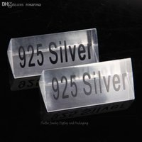 acrylic description - Clear Acrylic Silver Tag Indicator Nameplate Jewelry Counter Guide Card Display Description Jewelry Store Accessories