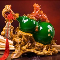 act stocks - The new resin handicraft of China household act the role ofing is tasted Fortune gourd furnishing articles gifts to bring good luck