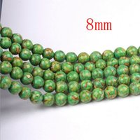 Wholesale 6pcs mm Natural Turquoise Loose Beads Jewelry Accessories Diy Beads Semi Finished Turquoise Optimization