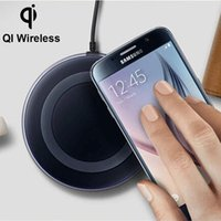 Wholesale For Samsung Universal QI Wireless Charging Pad Launch Base Portable Wireless Dock Charger Pad For S6 S6 Edge iPhone HTC lumia KV0010