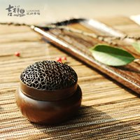 Wholesale Pure copper temple The peony pattern small circular furnace Copper hand warmer