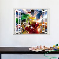 avengers movie online - The Lego Movie Series Wall Sticker The Avengers Wall Decals Kids Bedroom PVC cm Decoration Wall Art Poster Online