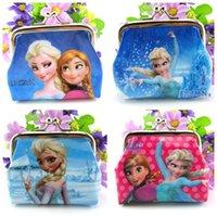 disney wholesale - New Style Frozen Coin Purse Cartoon Disney Case Children s Bags Coin Shell Package Cash Bag