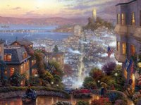 art thomas - Thomas Kinkade Oil Paintings Art Print On Canvas no frame NO