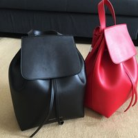 Wholesale Famous Brand women backpack real leather backpack lady genuine leather backpack college style bag school bags High Quality