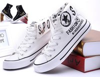 Cheap NEW Men's Canvas shoes British printing design plimsolls high-cut shoes movement leisure shoes NB23