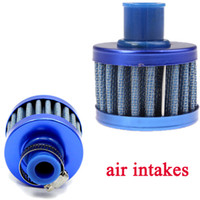 Wholesale Universal Car Air Filter Cleaner Cold Air Intake Auto Mini mm Valve Cover Reusable Oil Catch Crankcase Cold Vent Breather Cone order lt no