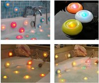 bath spa gift - Pool LED Night Light Bubble Lights Colorful Floating Bath Light Bathtub Light Bath Pool Light Changing Color Spa Light Christmas Day Gift
