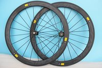 aero bike rims - 2016 carbon wheelset clincher c mm rims grey decal carbon bicycle wheel road bike wheelset cn aero Spokes Front Rear
