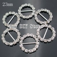 Wholesale mm Silver Plated Crystal Rhinestone Buttons Buckles Ribbon Sliders Hair Dress Jewelry Accessory GZ007