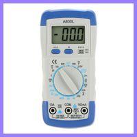 Wholesale Original Mastech A830L Mini DMM Digital Multimeter Ammeter Voltmeter Ohmmeter hFE Tester w LCD Backlight Ammeter Multitester Megohmmeter