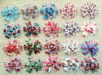 Wholesale 100pcs quot Baby Girl Toddler tinker bell sofia Snow White princess mickey mouse frozen Elsa ribbon hair bow flower accessories