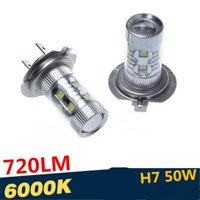 Wholesale Auto Car H7 LED Bulb Lights Lamp H7 W LED Fog Light Auto Daytime Running Light LED Bulbs LED Headlight Led Car Light Front Fog Light Lamp