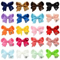 Wholesale new arrival lovey grosgrain ribbon hair bows children hair accessories baby hairbows girl hair bows WITH CLIP colors to choose