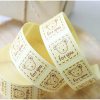 Wholesale quot For You quot cartoon bear adhesive seals stickers labels homemade DIY tags for cookie cake gift packaging decoration