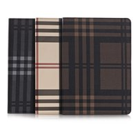 Wholesale 2015 Vintage Retro Lattice Matte business noble PC PU leather inch tablet Case For ipad air air2 ipad5 Folding Folio Smart Cover stand