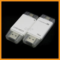 mobile card memory - 16G G Mobile Phone Extended Memory Card USB i FlashDrive Flash Drive Memory Card Reader for iPhone iPad iOS