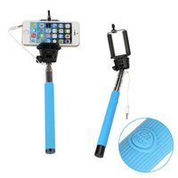 Wholesale Wired self timer bracket Monopod Z07 Plus s Control Extendable Selfie Stick groove Handheld Camera Cable Take Pole for iphone6