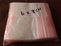 ziplock bag - 500Pcs CM Jewelry Gifts Bags Zip Zipped Lock Transparent PE Bags Ziplock Reclosable Bags Packing Plastic Bags