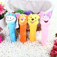 Wholesale B New Designs Soft Animal Model Handbells Rattles Zoo Squeeze Me Super Cute Gift Baby Toy for Kid New Born Baby