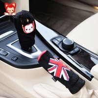 Wholesale Car Accessories Set Car Handbrake Cover Gears Sets Auto Upholstery Decoration
