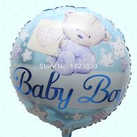 balloons inflation - bear round helium balloons party balloon birthday baby boy amp baby girl inch Aluminum balloon air ball Inflation