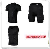Wholesale Mens Body Armour Honeycomb Crashproof Basketball Football Shorts Tank Shirt Back Waist Thighs Hips Protector