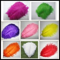 beautiful center - Cheap Beautiful Ostrich Feather cm colorful ostrich feather ostrich plume wedding center pieces feather for party