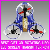best rc transmitter - Best Gift D Rotating Remote Control RC Helicopter RC With LCD Screen Transmitter G X mas Drone Vs v959 v262
