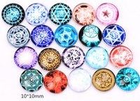 Wholesale 20Pcs mm Floating Milky Way Galaxy Charms Round Glass Dome Cabochons Flat Back For Floating Locket
