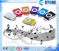Wholesale High Quality Mini Clip MP3 Music Player Support Micro TF SD Memory Card Slot With Cable Earphone Crystal Retail Boxes Without Screen J