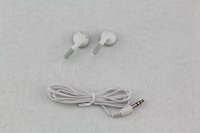 Wholesale 300pcs White Fashion in ear Earphone Headphone Earbuds mm For Cell phone iphone Samsung Mp3 Mp4 Mini HD headset