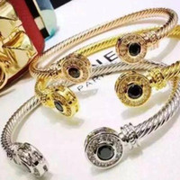 Wholesale black crystal cuff bangle adjustable bangle stainless titanium steel bracelet bangle adjustable love bracelet for women