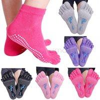 Wholesale Soft New Fashion Warm Sport Yoga Socks Full Toe with Grips