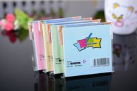 Wholesale DHL shipping office school suppliers colorful stickers stick notes notepads meno adhesive message pad cm