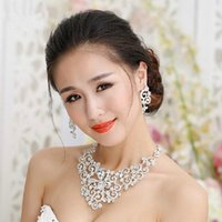 Cheap bridal jewelry set Best wedding silver necklace