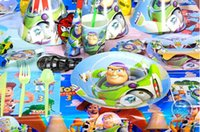Wholesale Buzz lightyear Woody toy story Happy Birthday party decorations kids children boys event party supplies toy favors gift for