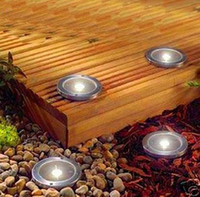 led lawn light - Solar LED underground lamp Stainless Steel LED underground light Ground Landscape Garden courtyard Light solar buried lamp solar lawn lamp