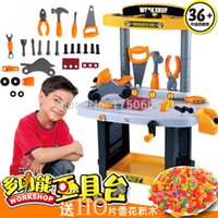 Wholesale Kids play set toy tools Children s play toy boy baby Tool Engineer multifunctional tool table
