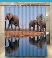 african shower curtain - Home Decors Gathering Of African Elephants custom Shower Curtain x180cm Waterproof Fabric Shower Curtain for Bathroom