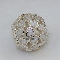925 abundancia de amor del grano del encanto con 14K pulseras de la joyería de Pandora estilo europeo apto real del corazón del oro collares pendientes