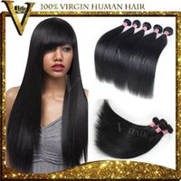 Cheap Grade 7A Peruvian Virgin Hair Straight Human Hair Extensions 4Pcs Lot Peruvian Hair Can Be Dyed, Bleached, Curled V Hair Product