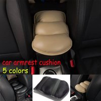 Wholesale New Car Auto Armrests Cover Vehicle Center Console Arm Rest Seat Box Pad Protective Case Soft PU Mats Cushion Universal