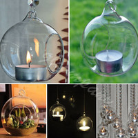 candle holder - 2015 cheap Romantic Crystal Glass Hanging Candle Holder Candlestick Wedding Dinner Decor pieces