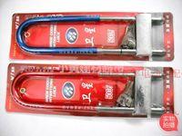 Wholesale retractable glass door glass door handle lock motorcycle lock anti theft lock fork lock lengthened large U shaped