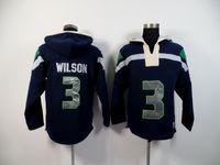 Cheap Wholesale-Fleece Hoodie Best quality New Season 3Wilson Hoodie 24 Lynch 25 Sherman Hoodie Seahawks American Football Jersey Free Shipping