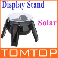 Wholesale New Black Solar Powered Jewelry Phone Rotating Display Stand Turn Table Freeshipping Dropshipping order lt no track