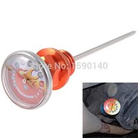 Wholesale DIY Motorcycle Parts Oil Tank Dipstick with Temperature Gauge Long CG6 CG Needle Red